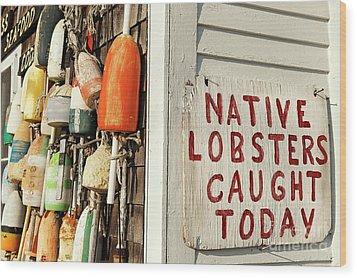 Lobster Shack. Wood Print by John Greim