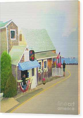 Wood Print featuring the digital art Lobster Shack by Richard Stevens