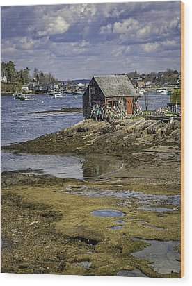 Lobster Shanty Wood Print