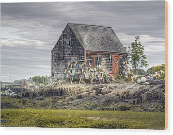 Wood Print featuring the photograph Lobsterman's Shack Of Mackerel Cove by Richard Bean