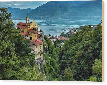 Locarno Overview Wood Print by Alan Toepfer