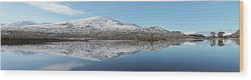 Wood Print featuring the photograph Loch Droma Panorama by Grant Glendinning