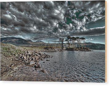Wood Print featuring the photograph Loch In The Scottish Highland by Gabor Pozsgai
