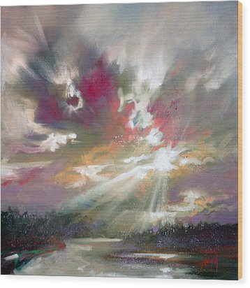 Loch Light Wood Print by Scott Naismith