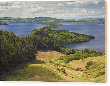 Loch Lomond From Conic Hill Wood Print by John McKinlay