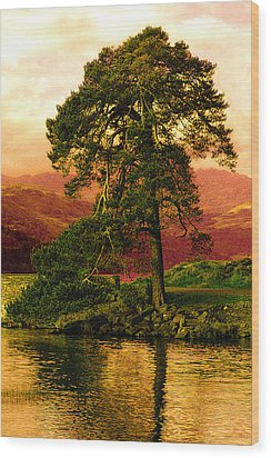 Loch Lomond Gloaming Wood Print by Rianna Stackhouse