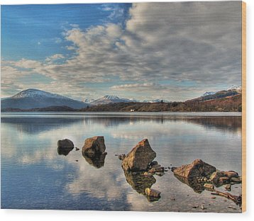 Loch Lomond Wood Print by Fiona Messenger