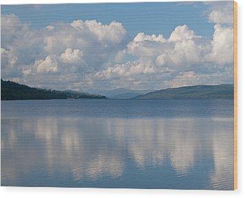 Loch Rannoch Clouds Wood Print by Chris Thaxter
