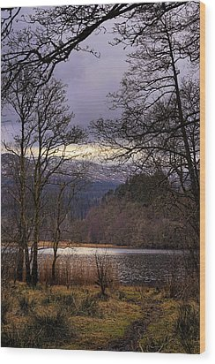 Wood Print featuring the photograph Loch Venachar by Jeremy Lavender Photography