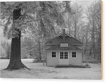 Lochiel School House Wood Print by Bill Kellett