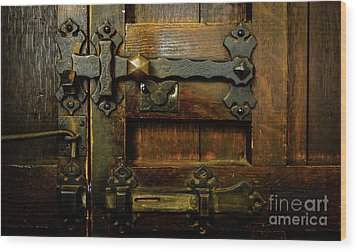 Locked And Bolted Wood Print by Lexa Harpell