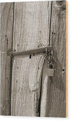 Locked Door Wood Print by Pat Carosone