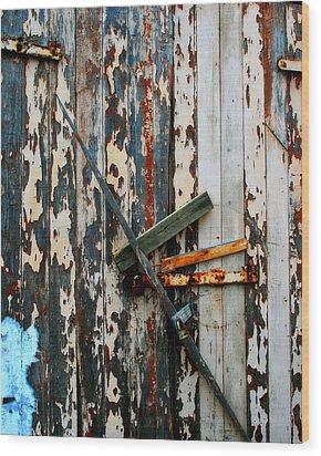Locked Door Wood Print by Perry Webster