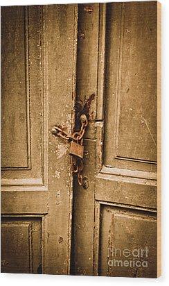 Locked Wood Print by Gabriela Insuratelu