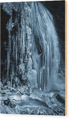 Locked In Ice Wood Print