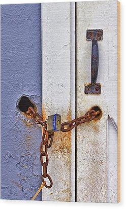 Locked Out Wood Print by Evelina Kremsdorf
