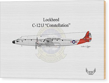Lockheed C-121j Constellation Wood Print by Arthur Eggers