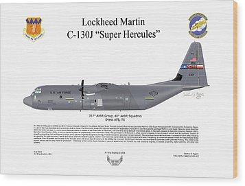 Lockheed Martin C-130j-30 Super Hercules Wood Print