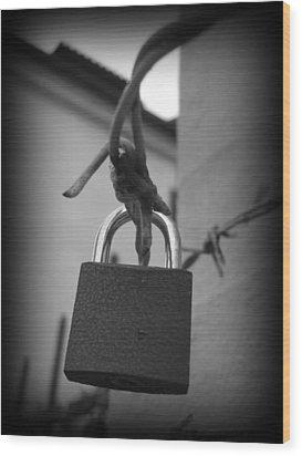 Locking Love Wood Print by Haley Evans
