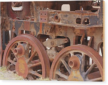 Wood Print featuring the photograph Locomotive In The Desert by Aidan Moran