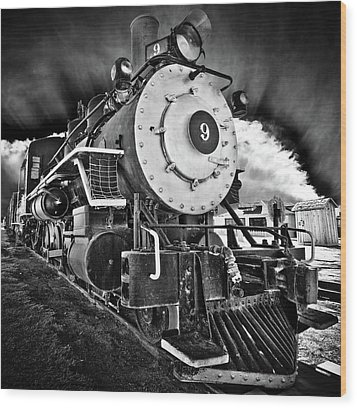 Locomotive Nine Wood Print