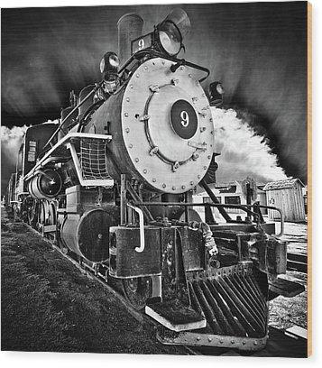 Locomotive Nine Wood Print