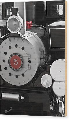 Locomotive Number Five Wood Print by Colleen Coccia