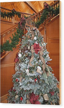 Lodge Lobby Tree Wood Print