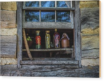 Wood Print featuring the photograph Log Cabin Window by Paul Freidlund