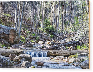 Wood Print featuring the photograph Log Falls by Anthony Citro