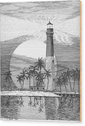 Loggerhead Key Lighthouse Wood Print