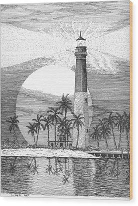 Loggerhead Key Lighthouse Wood Print by Lawrence Tripoli