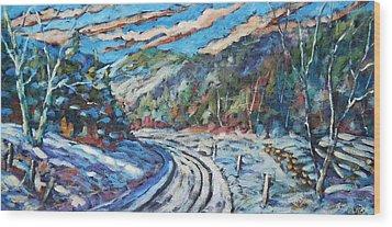 Loggers Road  Wood Print by Richard T Pranke