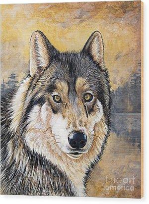 Loki Wood Print by Sandi Baker