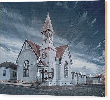 Loleta Church Wood Print by Greg Nyquist