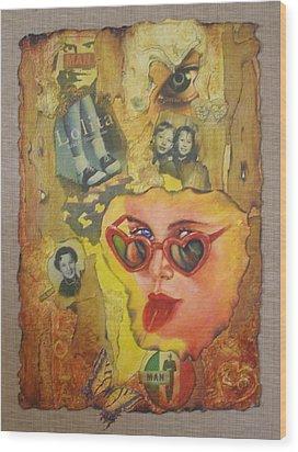 Lolita Wood Print by Diane DiMaria
