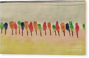 Lollipop Trees Wood Print by Kim Nelson