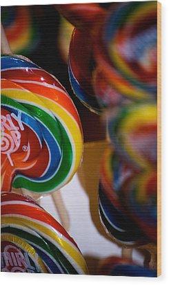 Lollipops Wood Print by Lisa Knechtel