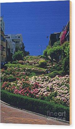 Lombard Street  Wood Print