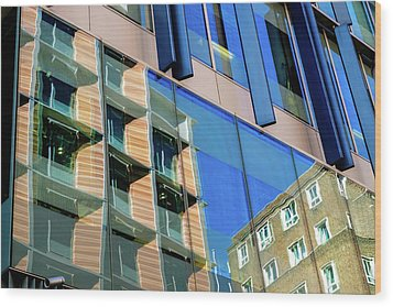London Bankside Architecture 3 Wood Print