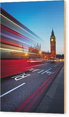 London Big Ben Wood Print