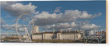 London Eye Wood Print by Adrian Evans