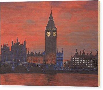 London Wood Print by Jennifer Lynch
