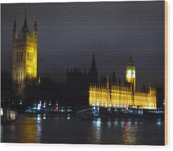 Wood Print featuring the photograph London Late Night by Christin Brodie