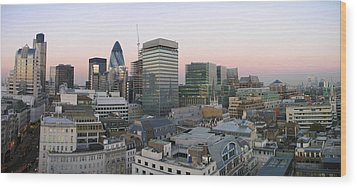 London Panorama From The Monument Wood Print by Romeo Reidl