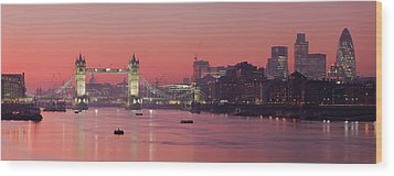 London Thames Wood Print by Thomas M Pikolin
