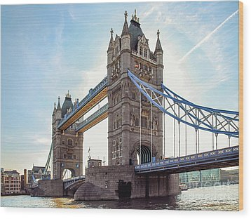 Wood Print featuring the photograph London - The Majestic Tower Bridge by Hannes Cmarits