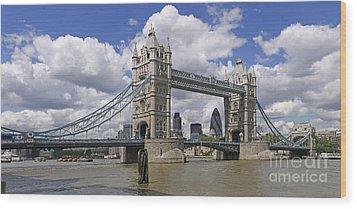 London Towerbridge Wood Print
