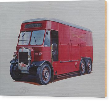 Wood Print featuring the painting London Transport Wrecker. by Mike Jeffries