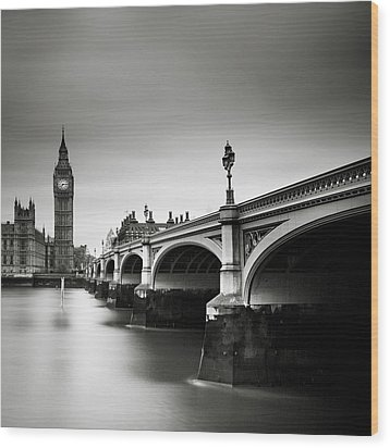 London Westminster Wood Print by Nina Papiorek